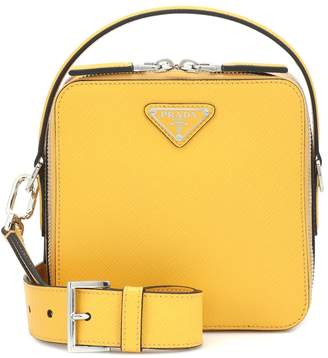 Prada Brique leather mini crossbody bag