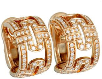 Bulgari 18K Rose Gold 0.70 Ct. Tw. Diamond Earrings