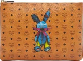MCM Rabbit Crossbody Pouch In Visetos