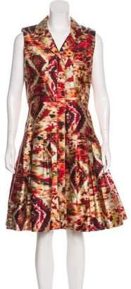 Oscar de la Renta A-Line Printed Dress