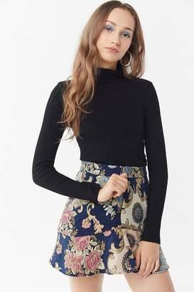 Moon River Jacquard Mini Skirt