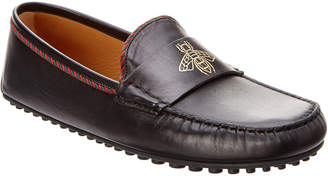 Gucci Embossed Leather Moccasin
