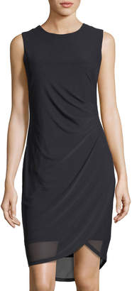 T Tahari Side-Ruched Knit Dress $89 thestylecure.com