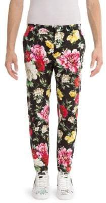 Dolce & Gabbana Stretch Cotton Floral Pants
