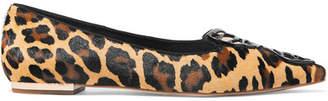 Sophia Webster Bibi Butterfly Leopard-print Calf Hair Point-toe Flats - Leopard print