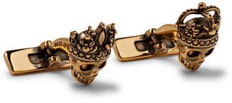 Alexander McQueen Skull Gold-Tone Cufflinks - Men - Gold