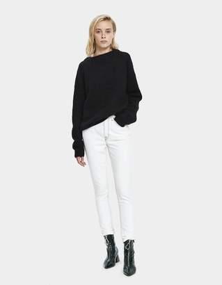 Acne Studios Oversized Mohair Sweater in Black