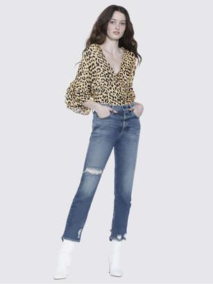Alice + Olivia Amazing High Rise Girlfriend Slim Jean