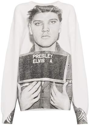 R 13 Elvis Mugshot Print Sweatshirt