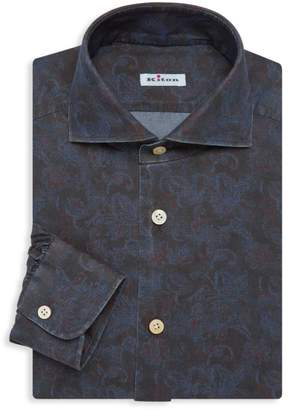 Kiton Contemporary-Fit Floral Print Dress Shirt