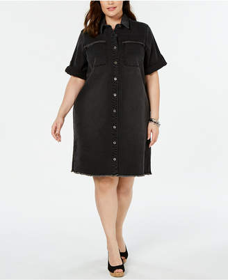 Plus Size Denim Dress - ShopStyle