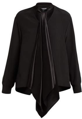Calvin Klein Neck Tie Silk Blouse - Womens - Black