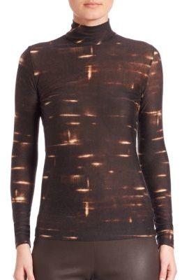 AkrisAkris Printed Cashmere & Silk Top