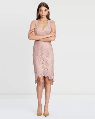 Lover Ode Lace Midi Dress