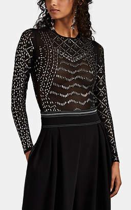 b523399cc152 Koché Women's Embellished Mesh Bodysuit - Black