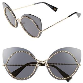 Marc Jacobs 61mm Rimless Cat Eye Sunglasses