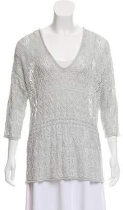 Calypso Open Knit Metallic Sweater