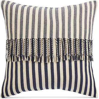 "Sunham Oxford Collection Stripe 20"" Square Decorative Pillow, Created for Macy's"