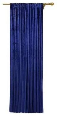 Benzara Blue Velvet Drape Panel