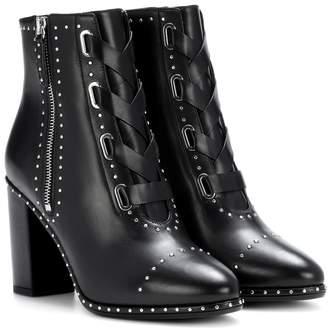 Aquazzura Guns & Roses 85 leather ankle boots