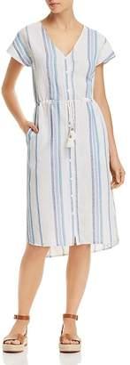Splendid Tapestry Stripe Dress Swim Cover-Up