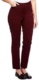 Liz Claiborne New York Regular Hepburn SlimLeg Twill Pants