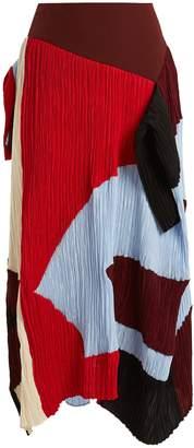Roksanda Calda colour-block plissé skirt