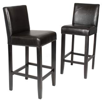 Roundhill Furniture Roundhill Citylight Bar Height Barstool Set of 2, Multiple Colors Available