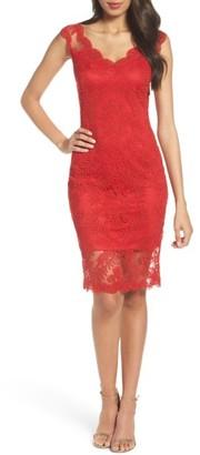 Women's Tadashi Shoji Corded Tulle Sheath Dress $408 thestylecure.com