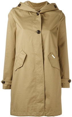 Woolrich hooded trench coat $419.06 thestylecure.com