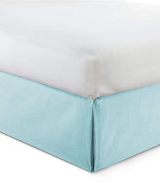 """Colcha Linens Cambric Aqua Bedskirt 15"""" Drop Twin/Twin-xl Bedding"""