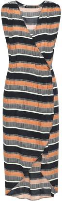 Vix Paula Hermanny Saona Gisele Wrap-effect Striped Woven Dress
