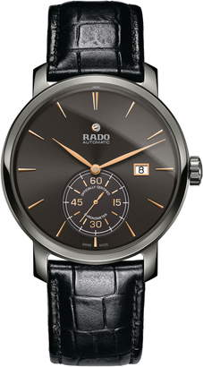 6a8b4539595 Rado DiaMaster Automatic Chronometer Leather Strap Watch