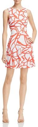 AQUA Abstract Print Scoop Back Dress - 100% Exclusive $88 thestylecure.com