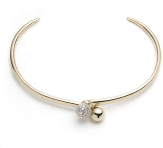 Alexis Bittar Crystal Encrusted Interlocking Sphere Collar Necklace