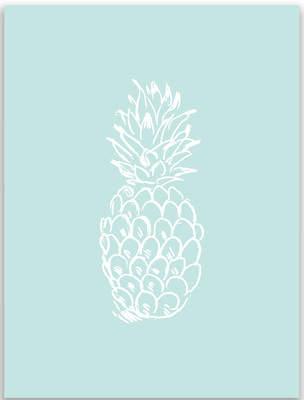 Jetty Home Mint Pineapple Wall Art Print