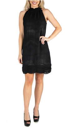 24seven Comfort Apparel Women Halter Mini Dress