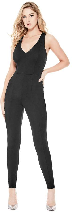GUESS Women's Leno Strappy Jumpsuit