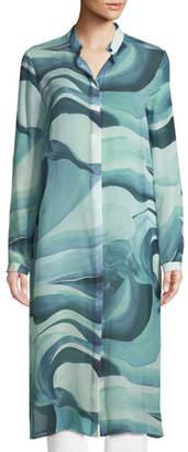 Lafayette 148 New York Auden Rio Chama Silk Duster Coat