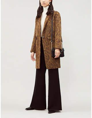 BA&SH Wandro leopard-print brushed coat