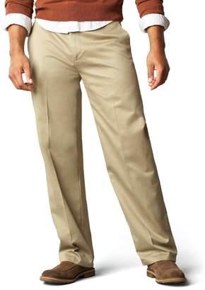 Dockers Signature Khaki D3 Classic Fit Flat Front Pant, Dark Khaki, 34x30