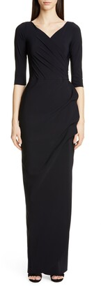 Chiara Boni Florien Ruched Evening Dress