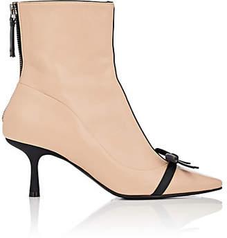 BEIGE Fabrizio Viti Women's Mademoiselle Deneuve Leather Ankle Boots - Beige, Tan