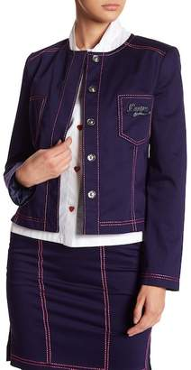 Love Moschino Giacca Topstitched Jacket