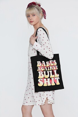 Nasty Gal Babes Against Bullshit Tote Bag