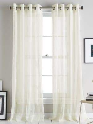 DKNY Soho Stripe Grommet Curtain Panel 84in