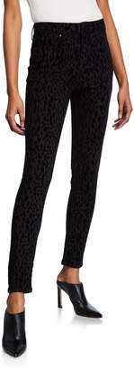 Rachel Roy Kamala Velvet Leopard Skinny Jeans