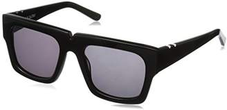 Butter Shoes Pared Eyewear Bread and Solid Grey Lenses Square Sunglasses