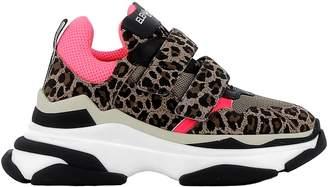 Elena Iachi Leopard/pink Fabric/suede Sneakers