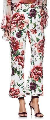 Dolce & Gabbana Women's Peony-Print Cady Trousers